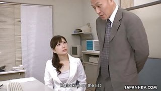 Japanese office lady, Noeru Mitsushima got fucked and creamp