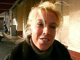 Bitch gets an ass whoppin - Blonde german bitch gets huge cumshot on her ass