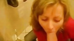 Sex and Blowjob in the Bathroom