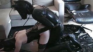 Pony Play - Latex Fucks Mistress In Hunter Ruber Welli