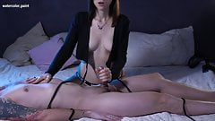 Watch me JERK OFF his Cock! I won't let him Cum!