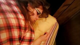 Nerdy Girl Gets Pussy Stretched Out & Cream Pie Balls Deep