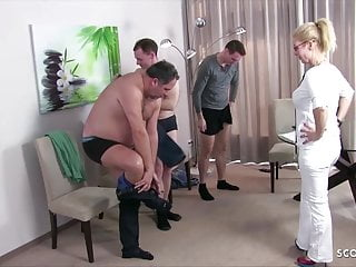Adult female german shepherd - German female milf doctor kissi kiss group sex at check up