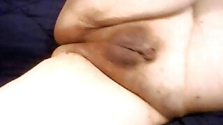 Shemale with Tiny Micropenis Cumming Hands Free