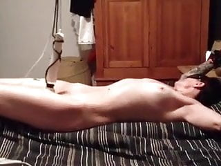 The free sex - Tied up hands free orgasm. wf