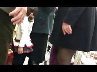 Mall upskirt stockings vid Upskirt at the mall 3 pantyhose