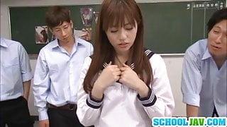Rina Rukawa Sucks Dick In A Gangbang For Many Facials