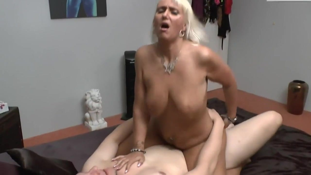 Horny mature fucks young guy