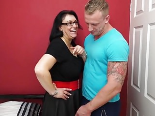 Mom fucking son inlaw - Big breasted mom fucking and sucking son