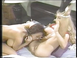 Dicks rubbing together - Busty lesbians rub tits together and eat pussy in bedroom