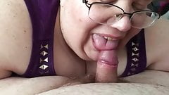 BBW BJ TINY COCK CUM IN MOUTH