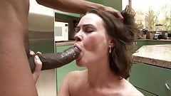 Hairy Veronica Snow is desperate for big black cock
