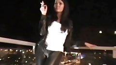 Smoking leather pants and jacket