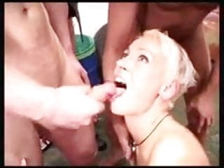 Disgusted by the opposite sex Blonde slut disgusted by huge facial
