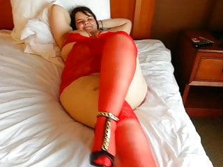 Sexy red porn - All natural bbw sexy red lingerie