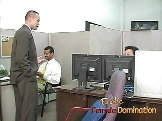 Slutload bossy milf Bossy blonde office bitch dominates and humiliates workers