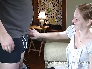 Sucking amateur Wife agrees to suck a strangers cock