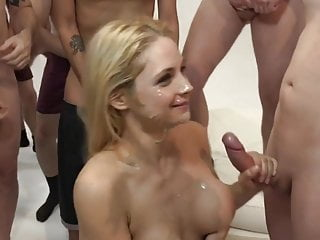 Sarah slut palin - Cum slut sarah vandella gets covered in an amazing bukkake