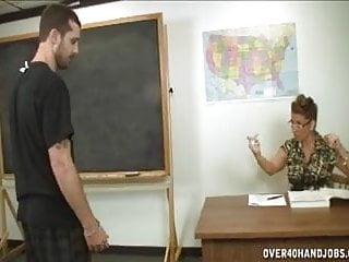 Teacher handjob big tits Handjob punishment by the dominating milf