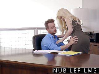 Perfect messy blowjob video - Elsa jean gives boss messy blowjob swallows