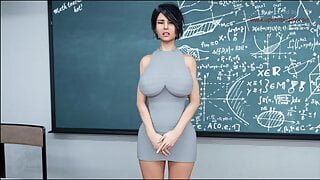 22 - Teacher has wet uncontrollable orgasm before her class