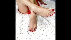 Latina Sexy Hot Feet & Soles Size 9 US  , Long Toes