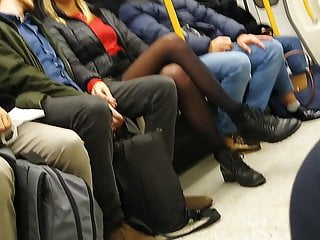 London underground xxx triple x - Long pantyhose legs in london underground
