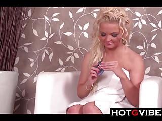 Gspot orgasm European blonde has a gspot squirt