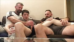 Watching rugby with the Bros when the Twink gets distracted