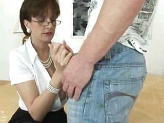 Fetish ladies - British nylon lady blowjob-footjob