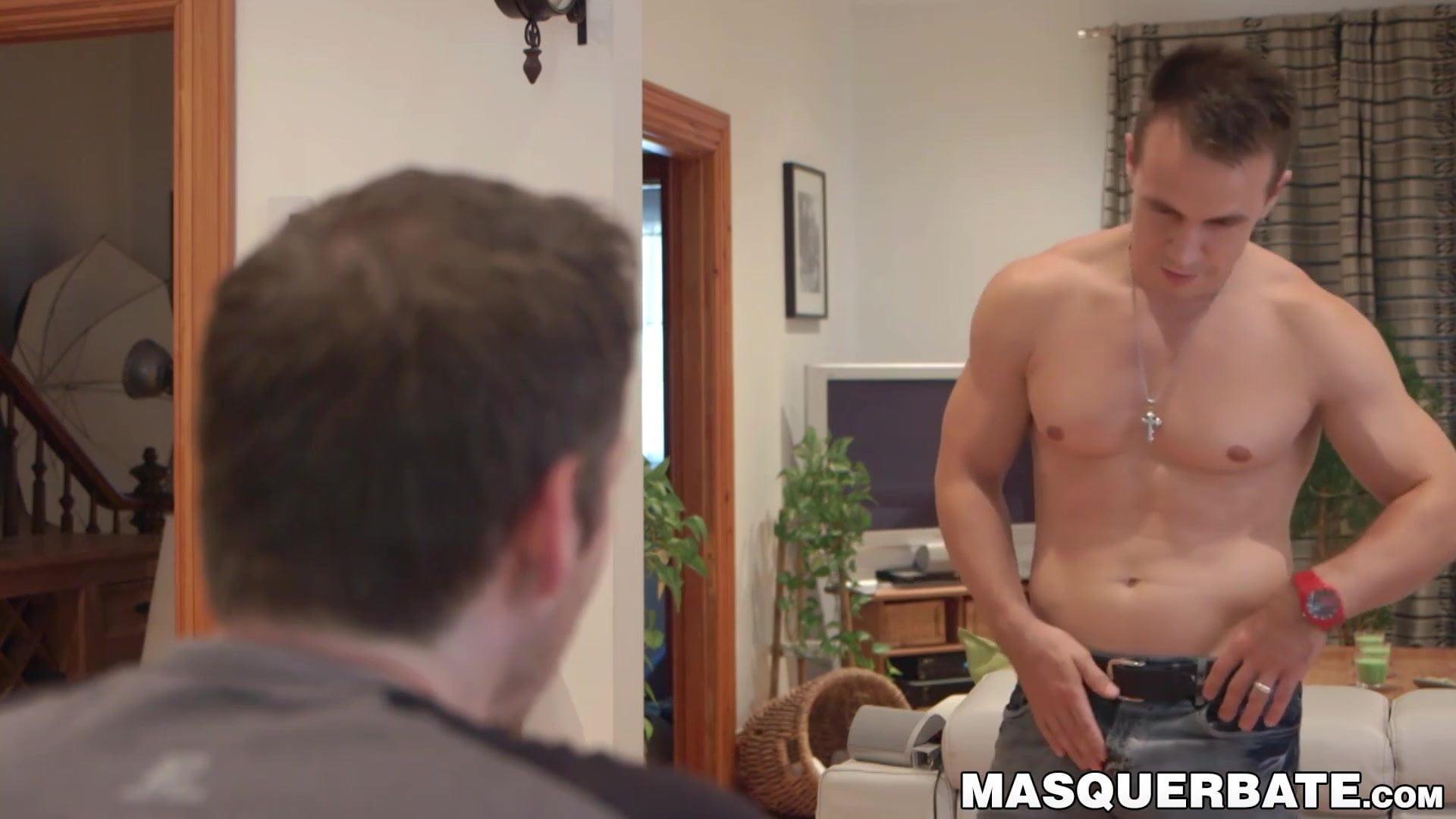 Solo Male Masturbation Shower