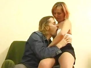 I love sex with auntie - Skiny redhead mature love sex with young guy