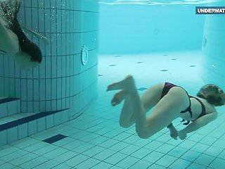 Bathroom bikini bikini hot pool popsicle shower swimsuit tube undies - Two super hot teens in the pool