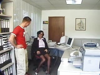Nudist milf in the office - Milf fucked in the office