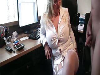 Pissing on my blouse Pissing on my dirty boss