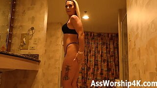 Mistress Sarah Jessie wants her big, sexy ass worshiped!