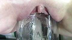 Frozen Bottle, Acorn Squash, Glass Container Pussy Insertion