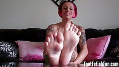 My stinky feet need to be cleaned and pampered