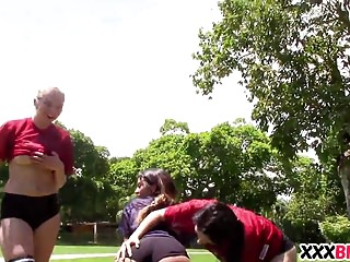Girl football porn Nice ass girls football team fucks