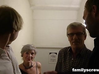 The estate swingers club Horny family visits swingers club