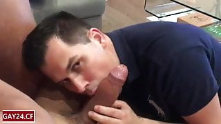 Deepthroating a ripped hung Portuguese guy