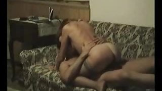My MILF exposed Amateur wife in stockings riding cock