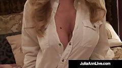 Big Boobed Cougar Julia Ann Titty Bangs A Lucky Hard Dick!