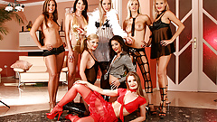 Seven Horny Sluts And One Big Cock