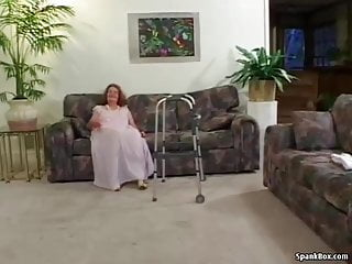 Hairy granny loses panties - Granny loses her teeth while sucking