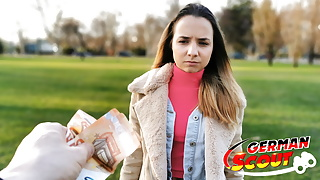 GERMAN SCOUT - TINY TEEN MONA FUCK FOR CASH AT PICKUP CAST