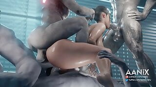 Claire Redfield Gangbanged