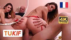 Hot French Brunette licked and fucked in missionary