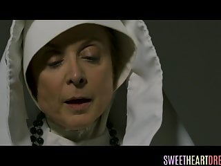 Lesbian nun scene Lesbian nun masturbating and fingering