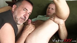 Hunk has his ass raw penetrated doggy after getting blowjob